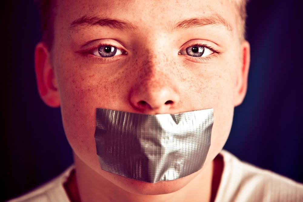 censorship concept kid
