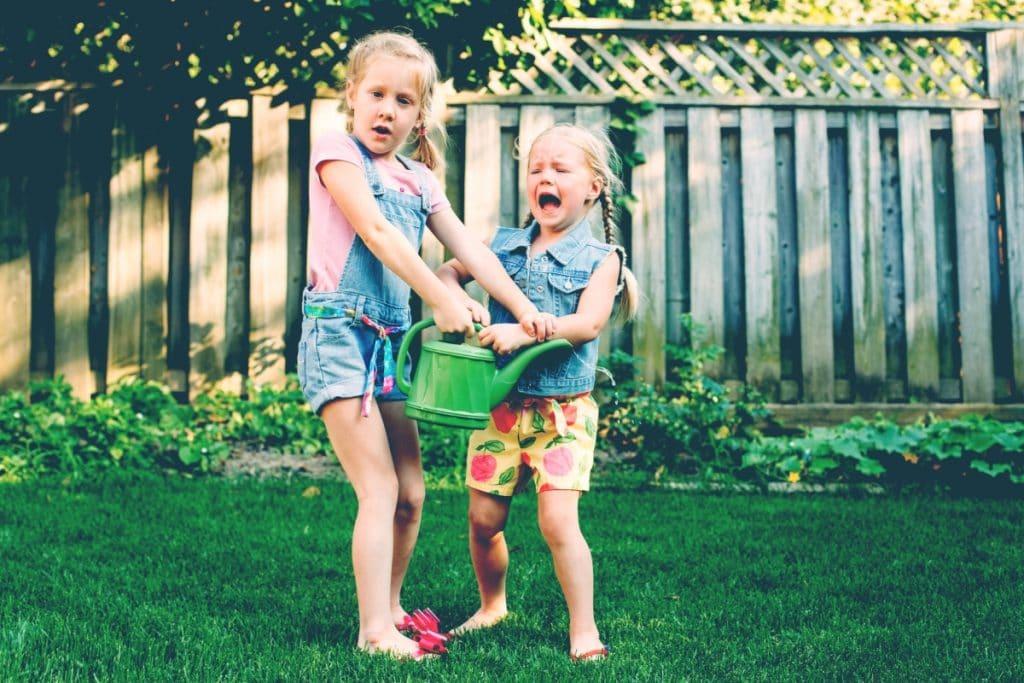kids fight outside summer