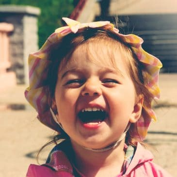little girl laugh