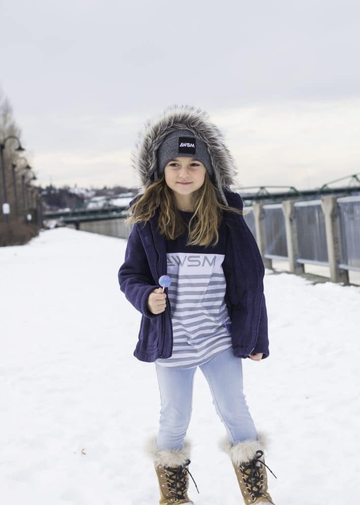 AWSM Kids chandail maritime tuque colorada