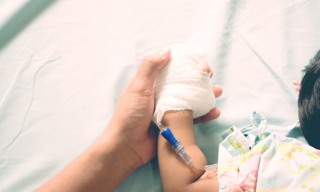 kid at hospital