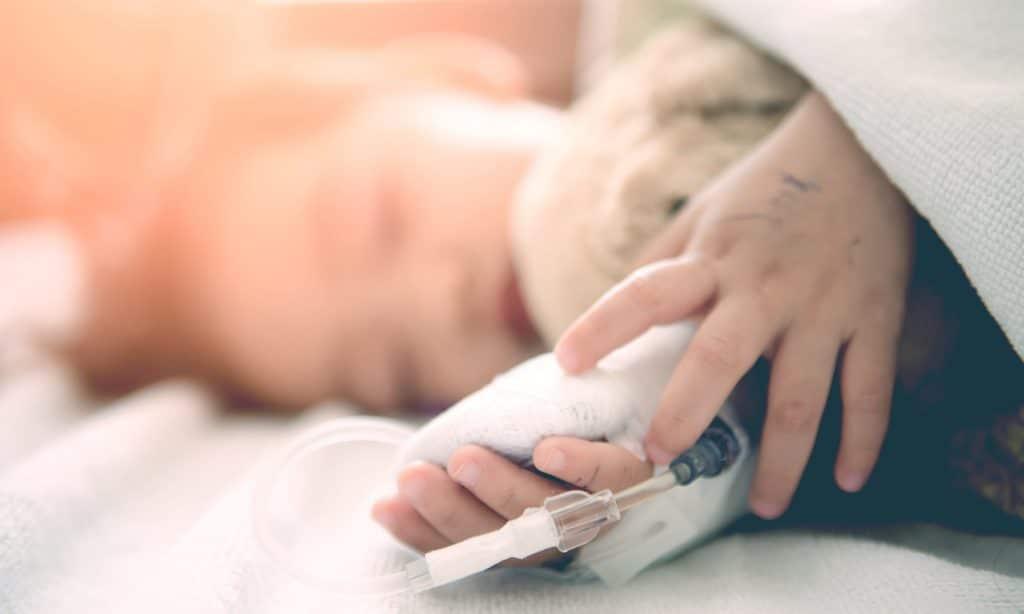 kid sick hospital