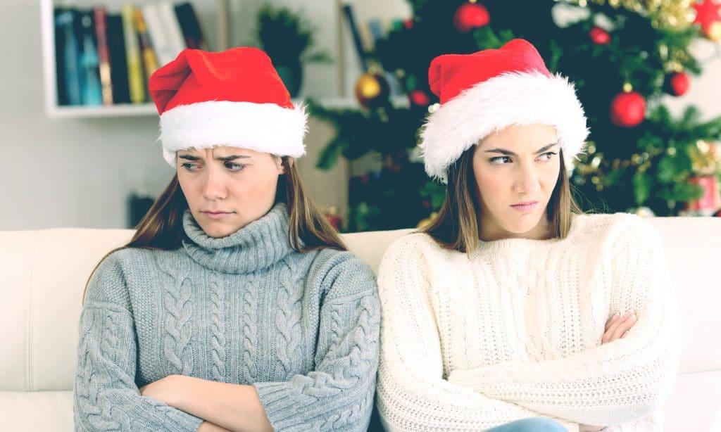 unhappy girls xmas