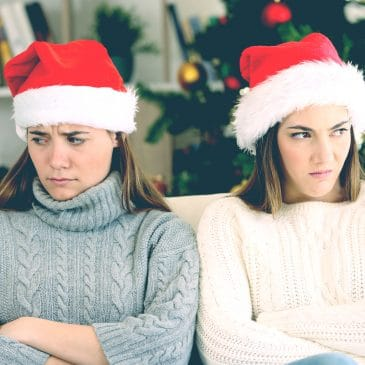 unhappy girls xmas