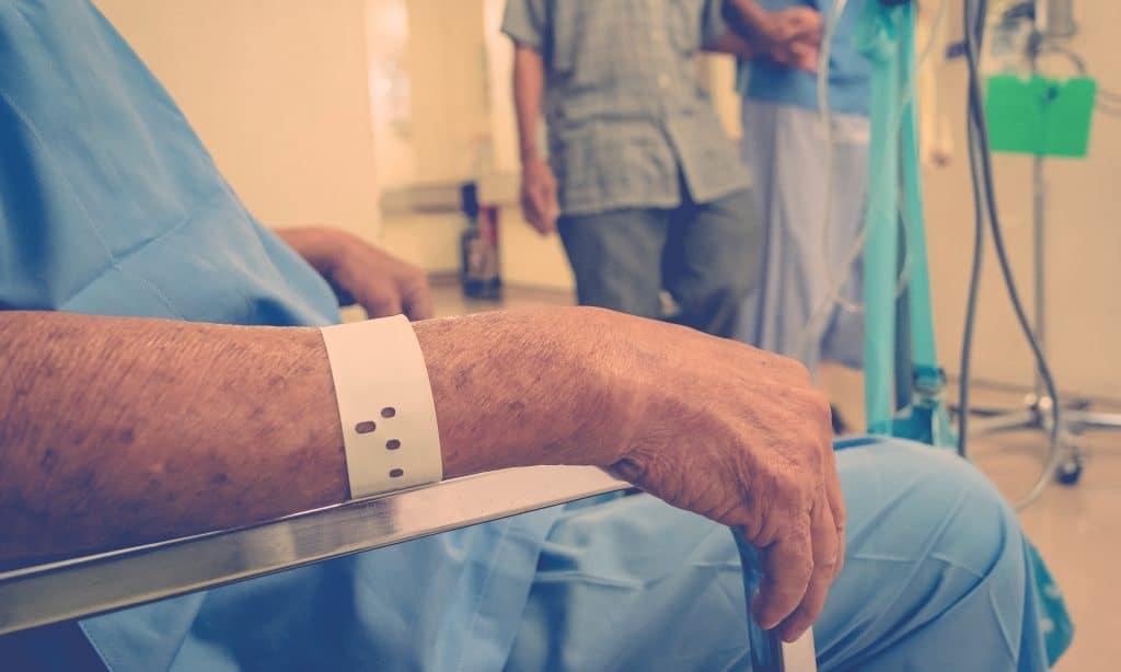 man at hospital