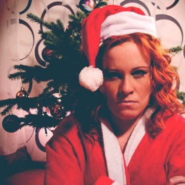 unhappy woman xmas