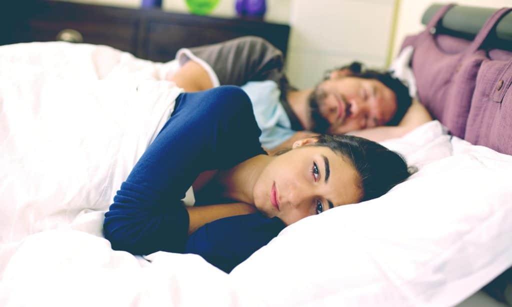 unhappy woman in couple