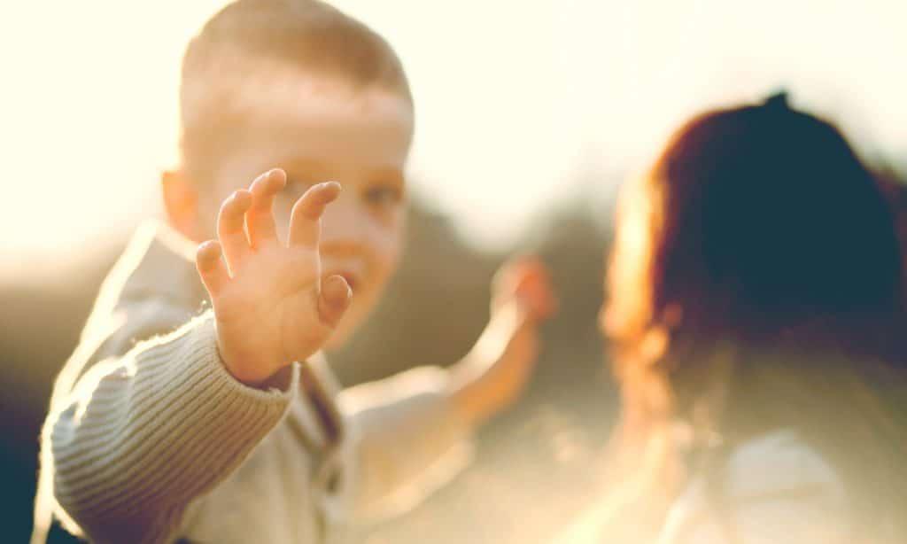 kid saying goodbye
