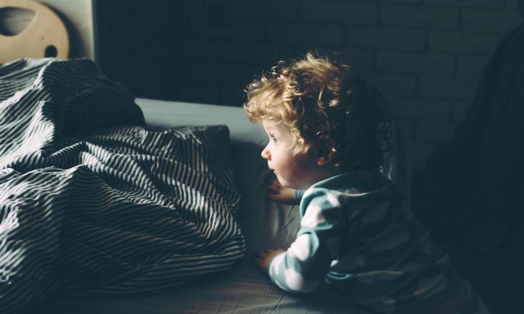 little boy in room