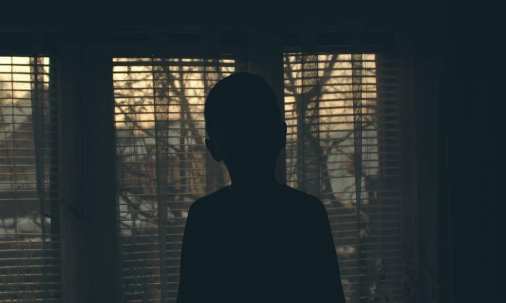 kid alone in the dark
