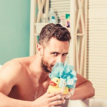 man on bath