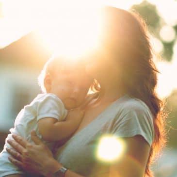mother hug kid