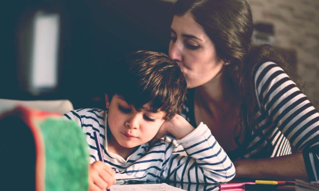 mother kid homeschool