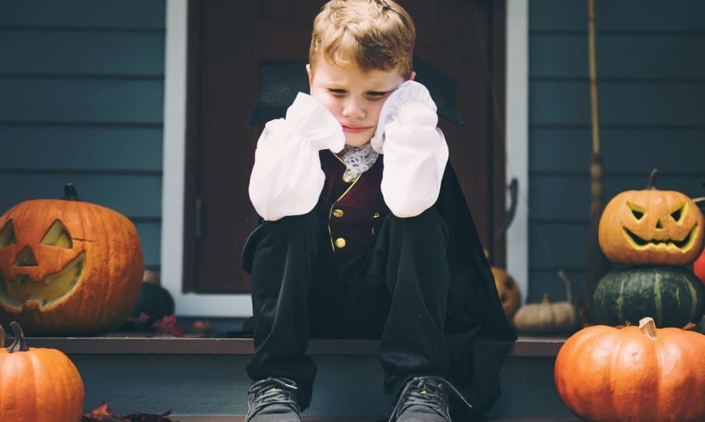 sad kid halloween