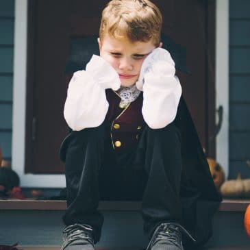 sad kid halloween
