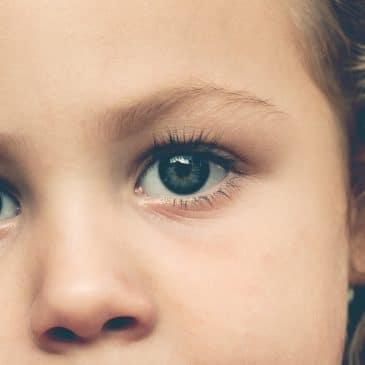 closeup kid's face
