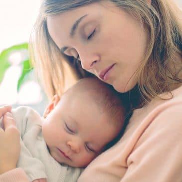 mother hug baby