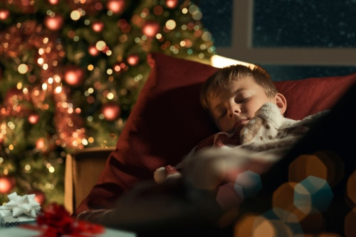 kid sleep xmas