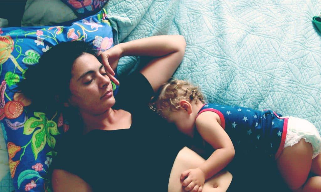 mother and baby sleep