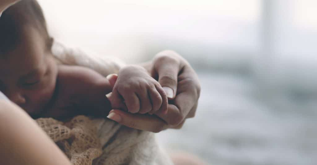 mother hand and baby
