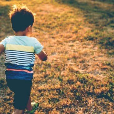 boy run away