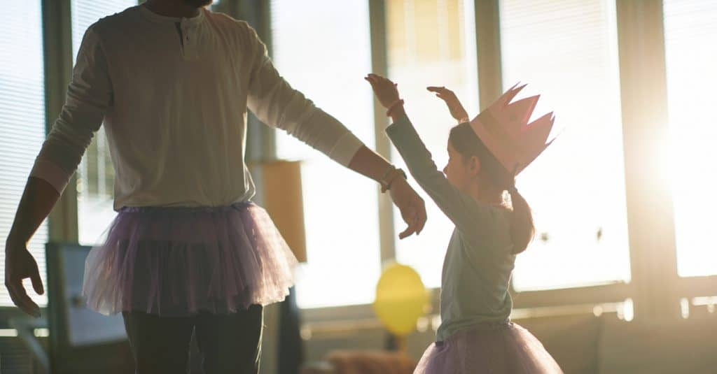 stepfather play with little girl