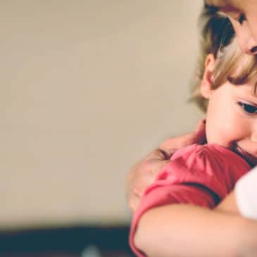 mother hug daughter