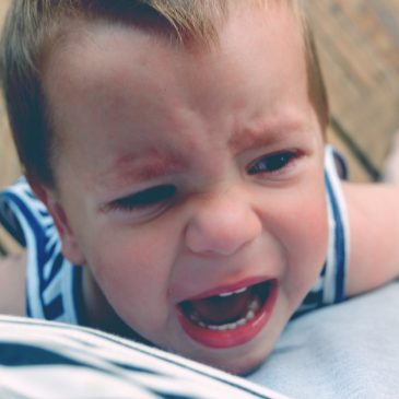 little boy angry